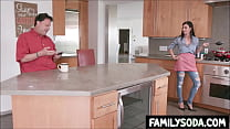 Mom banged by son while cooking for Dad