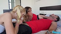 FILTHY FAMILY - My Hot Step Mom and Step Sister Seduce Me Into A Threesome