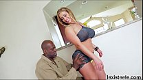 MILF Eva deepthroats and bounces on Lexs big black cock