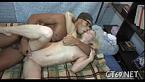 Sexy cumshots for a ribald babe