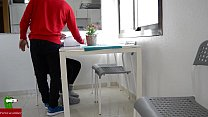 Hot couple fucking in the kitchen while playing  it IV - 9Club.Top