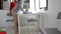 Hot couple fucking in the kitchen while playing on it IV preview image