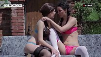 Outdoor Foursome With Two Czech Teens