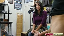 Hard pawnshop sex action with desperate customer