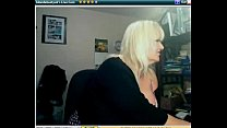 busty webcam - 'blondebustyuk' great cleavage  - from sexywebcams.pl pornhub video