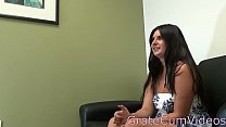 15182 Sexy Jenny Does First Casting and Plays With Toy,GrateCumVideos preview