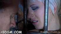 Gagged gal is being punished for being such a w...