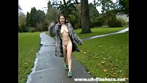 Flashing amateur Minx nude in public and exhibitionist babes outdoor striptease