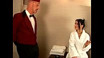Mature man fucks the hotel maid