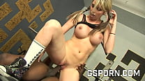 Busty blonde Courtney Cummz fucked by big black cock