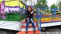 Sexy redhead amateur is fucked in a park for some cash thumbnail