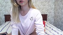 Amateur lovely russian blonde camgirl showing ass on webcam