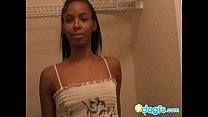 Naughty ebony gf Stephine sensual fetish handjob
