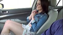 white girl in a car goes on a horny ride