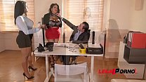 Busty Twins Kesha Ortega & Sheila Ortega Fuck the Daylights out of their Dirty Boss GP162 preview image
