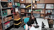 Shoplyfter Gracie May Green blowjob the LP Officers cock