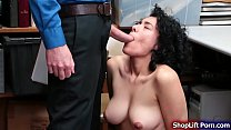 Busty thief sucks n fucked by LP officer thumbnail