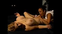 Asian Lesbian Chick Takes A Blonde Babe Custome