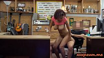 Cute ebony babe drilled by pawn keeper preview image