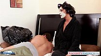Busty brunette in stockings Jessica Jaymes gets fucked thumbnail