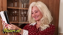 Blonde MILF Gets Fucked In Her Hairy Ass By Tin...