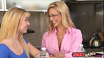 Busty milf Cherie Deville and teen cutie Lucy Tyler threeway - Download mp4 XXX porn videos