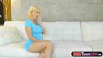 Tiny stepdaughter teen licked by her horny stepmom
