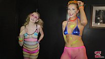 GIRLS GONE WILD - Teen Party Girl Ivy Plays Wit...
