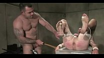 Pacient tied in spanking and fucking with nasty doctor in rough bdsm sex video