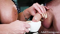 MILF sucked my dick with whipped cream on top - Alura Jenson