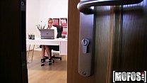 Czech Blonde Fucks in Office video starring Cristal Caitlin - Mofos.com thumbnail