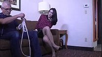 KINKY BABYSITTER RAVEN TIED UP TIGHT & GAGGED!