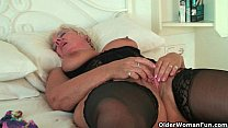British grannies Alisha Rydes and Sandie going solo pornhub video