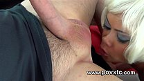 18072 Rimming cumslut assfucked with facial finish preview