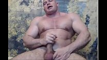 Bodybuilder Str8  flexing & stroke - hotguycams.com