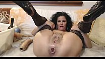 Hot milf in lace deep anal dildo and fisting - WetSlutCams.com - Download mp4 XXX porn videos