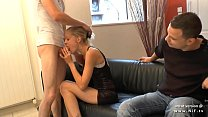 1st time anal casting of an amateur skinny french teen banged in 3some