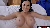 Busty MILF stepmom sneaked into his bed for big...
