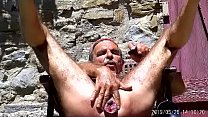 gaping my ass vith balls and huge dildos and prolapse