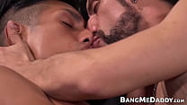Gay Latino Twink Sucks And Rides Huge Mature Cock