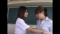 Busty Teacher With Handcuffs Fucked With Toys While Schoolgirls Riding On Her Fa