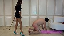 Screenshot Hot young sa distic mistress teaches her slave a...
