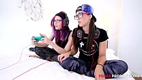 Pegas Productions - Hot Lezzie Step-Sis Babes Gaming on Fortnite