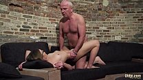 15742 Old and Young Porn - Grandpa Fucks Teen Pussy fingers her twat and cumshot preview