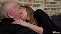 7448 Old and Young Porn - Grandpa Fucks Teen Pussy fingers her twat and cumshot preview