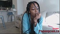Beautiful ebony masturbate on cam - 21youngcam.ca