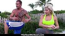 TheRealWorkout - Busty Blonde Trainer (Cristi Ann) Fucks Client