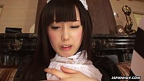 Image: Maid's wet pussy started to act up once again