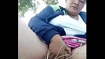 Thai aunty outdoor squirting