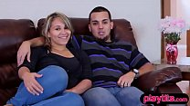 Real amateur couple tries swinging for the firs...